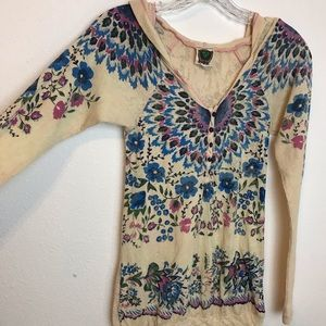Free People Tops - Free People Thermal Pull Over with Hoodie Sz XS